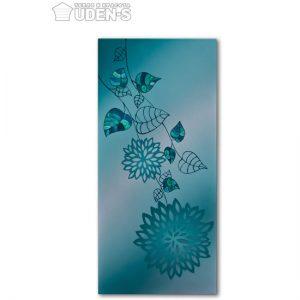 panou radiant uden cu un desen lotus albastru
